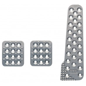 OMP Racing Aluminium Pedal Set - Sandblasted (OA/1020)