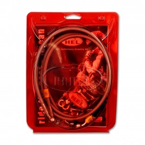 HEL Performance Aprilia 125 Red Rose Custom (1988-1994) Braided Brake Hoses