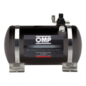 OMP Black Collection Electrical Steel Bottle Fire Extingusher System - 4.25 Liters