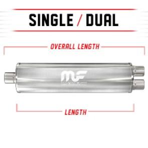 "MagnaFlow 7"" Universal Stainless Steel Muffler"