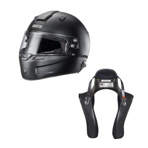 Sparco Closed Helmet and HANS Device Set