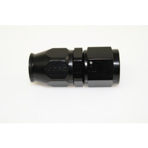 HEL Performance Hose Fitting PTFE -6 AN JIC Straight Aluminium Black
