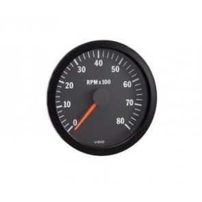 VDO Tachometer, 0-8000rpm, 52mm