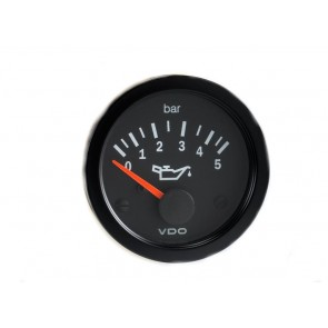 VDO Oil Pressure Gauge, 0-5 Bar, 52mm