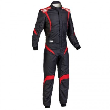 One S1 Race Suit-Black/Anthracite/Red-56