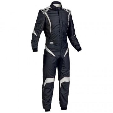 One S1 Race Suit-Black/Silver-58