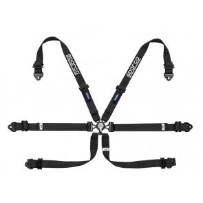 Sparco Racing harnesses, ENDURANCE 6 POINT FHR, Black