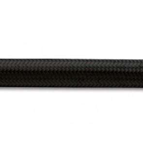 HEL Performance Black Nylon Cotton Braided Hose With Rubber Inner -6 AN (9mm) ID