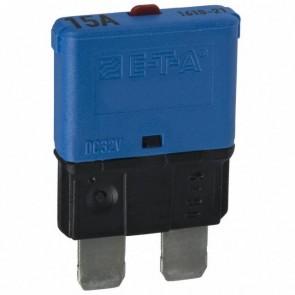 Sandtler Circuit breaker, Push to Reset, 15A