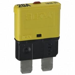Sandtler Circuit breaker, Push to Reset, 20A