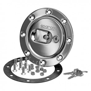 Sparco Aero Fuel Cap (Chrome), locking