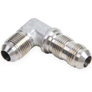 HEL Performance Bulkhead Fitting -3 AN JIC 90 Degree Stainless Steel