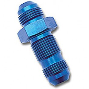 HEL Performance Bulkhead Fitting -6 AN JIC Straight Aluminium Blue