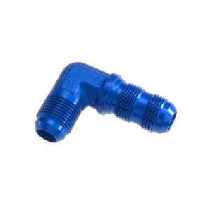 HEL Performance Bulkhead Fitting -6 AN JIC 90 Degree Aluminium Blue