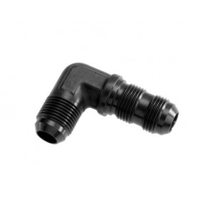 HEL Performance Bulkhead Fitting -6 AN JIC 90 Degree Aluminium Black