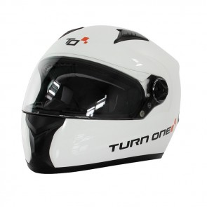 Turn One Karting full face helmet, white