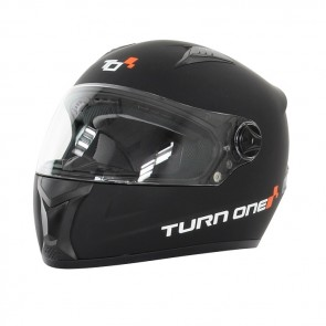 Turn One Karting full face helmet, black