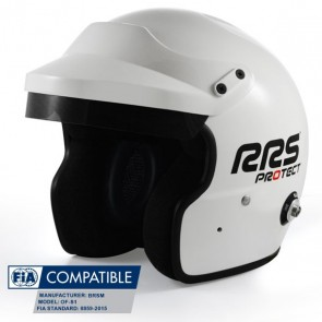 RRS Jet Helmet, White, FIA 8859-2015
