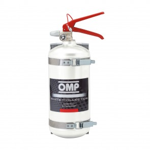OMP Hand Held Aluminium Fire Extinguisher 2.4 Liters 4kg (White)
