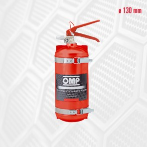 OMP Hand Held Aluminium Fire Extinguisher 2.4 Liters 4kg (Red)