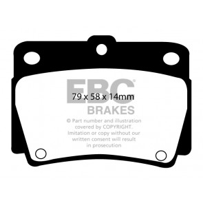 EBC Brakes Ultimax Brake Pads (Rear, DP1228)
