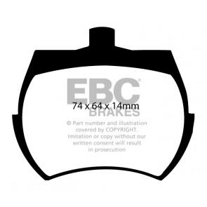 EBC Brakes Bluestuff Brake Pads (Front, DP5127NDX)
