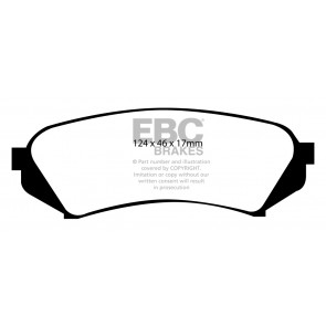 EBC Brakes Ultimax Brake Pads (Rear, DP1282)