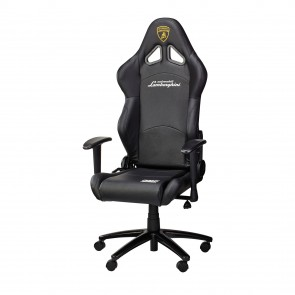 OMP Office Chair - Faux Leather-Black Lamborghini Edition