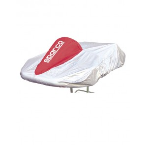 Sparco Kart Cover (Silver/Red)
