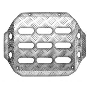 OMP Co-driver's Footrest - Knurled Aluminium