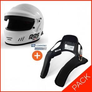 RRS FIA RALLY helmet + HANS device