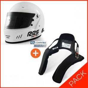RRS FIA Full face helmet + HANS device