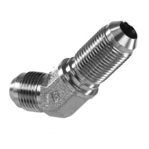 HEL Performance Bulkhead Fitting -3 AN JIC 45 Degree Stainless Steel
