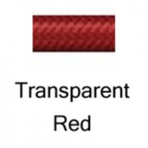 HEL Performance -3 Stainless Steel Braided PTFE Hose, Transparent Red