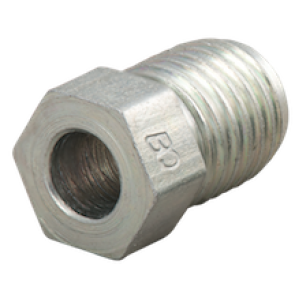 BrakeQuip Zinc Plated Male Tube Nut